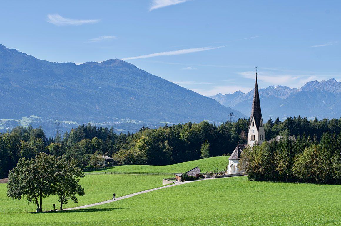 Uitzicht over de Oostenrijkse Alpen.