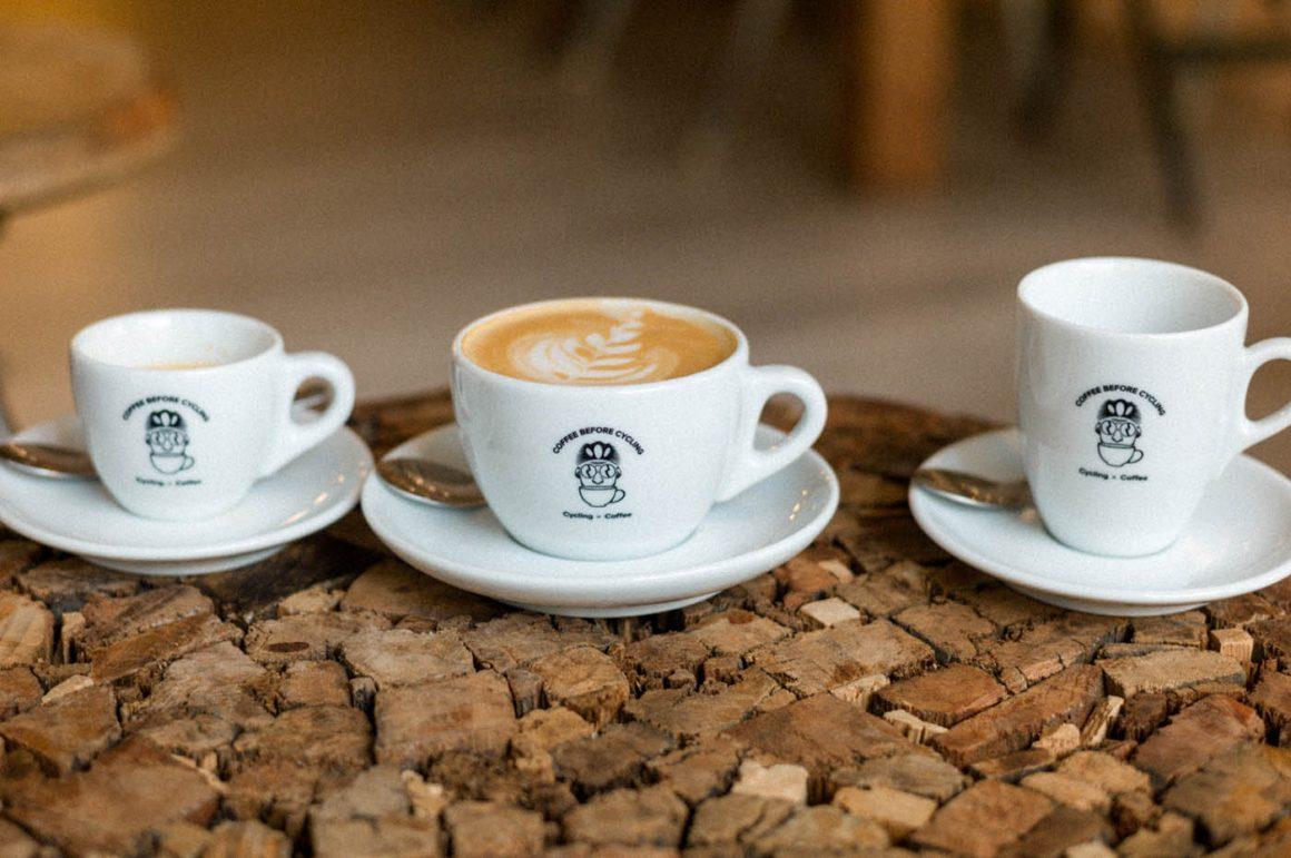 Koffiekopjes Coffee before cycling